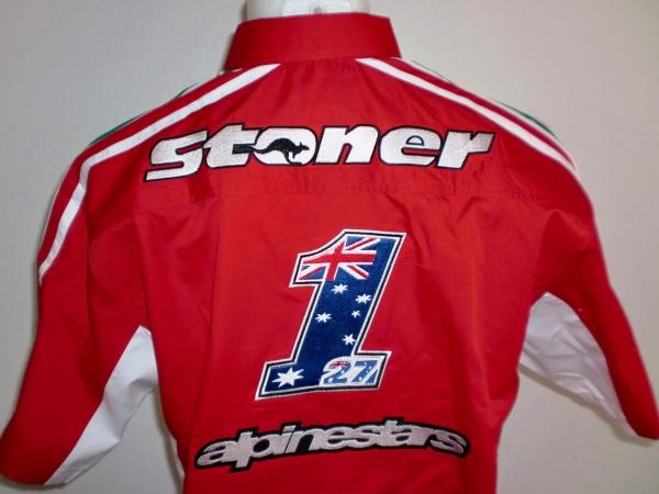 Jacket And Shirt Ducati Casey Stoner 27 Motorcycle Pit Crew Shirt