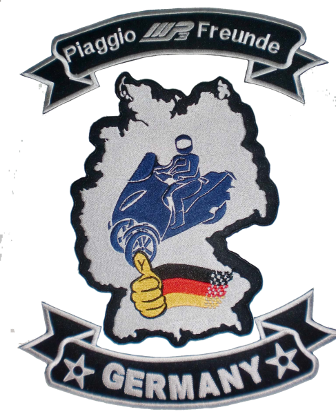 Piaggio MP3 Freunde Germany Patch - big Rueckenpatch 3 teilig